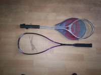badmington rackets x2