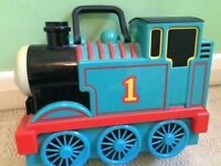 THOMAS THE TANK ENGINE CARRY CASE AND 9 DIE CAST ENGINES