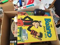 2 x boxes of 70s & 80s Annuals/games