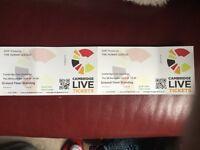 2x Human League Tickets for tonight, Cambridge Corn Exchange.
