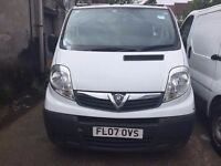 2007 VAUXHALL VIVARO SWB. 1 FORMER OWNER, 89K MILES,FULL SERVICE HISTORY, BRILLIANT CONDITION.NO VAT