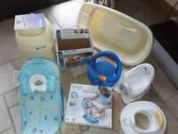 Baby bathing and sanitary set
