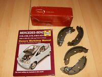 Mercedes A Class Rear Brake Shoes * New Boxed *+ Haynes Manual