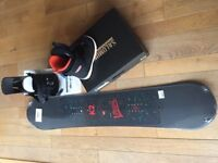 K2 Kids snowboard,& Salomon boots & bindings - new