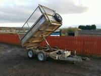Ifor williams tt85 8x5 tipping trailer with extra high mesh greedy sides