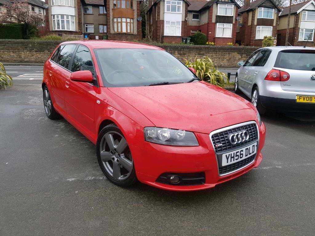 2007 audi a3 2 0 tdi 170bhp s line manual 5 door sportback red f s h 12 months mot 2 owners in. Black Bedroom Furniture Sets. Home Design Ideas