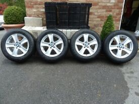 Dunlop Grandtrek Winter Tyres Fitted to Genuine BMW Alloy Wheels