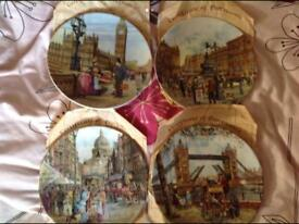 4 wall plates, collectables