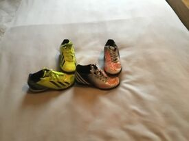 Two pairs of children's addias trainers size 10. Both pairs for £6