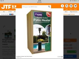 As new Kingfisher outdoor Patio Heater & cover.