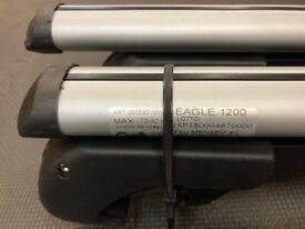 M-Way Eagle Universal Roof Bars, For Raised Rails, Length 120cm