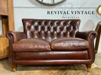 TETRAD CHESTERFIELD 2 SEATER SOFA BROWN