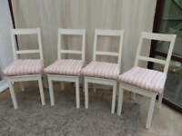 White Painted Chairs x 4