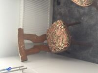 Pair of vintage style wooden dining chairs