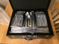 Brand new 72 piece 24 carat gold plated cutlery set