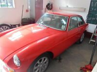 For sale mg bgt 1977 clean car has been kept in garage £2.500.00