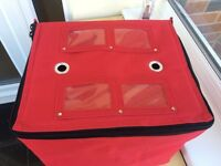 Fully insulated hot food delivery bag