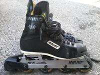 Like NEW H5 Bauer Inline Hockey Skates 72mm/78A Size 8