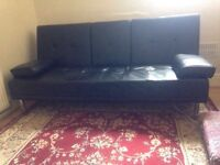 Black sofa bed £50