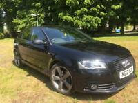 Audi A3 Black Edition 2012 S Line + Full History + Bose Audio + £30 Tax May Px Bmw Gti Gtd S3 R