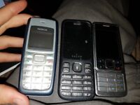 Three Working Mobile Phones - No Chargers! Great Condition!