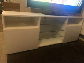 Triple TV cabinet storage unit
