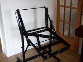 19 inch rack for music equipment; with castors.