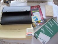 MIXED BUNDLE OF STATIONERY - ENVELOPES, PETTY CASH SLIPS, FILES, LABELS, PENCILS ETC