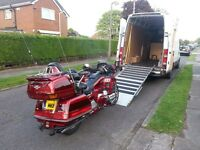 Motorcycle Transport. Collection & Delivery service. Fully insured. UK wide