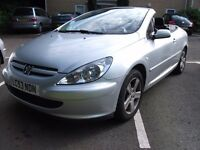 2003 PEUGEOT 307 CC SILVER Great car for Summer, and winter. Hard top retractable. LONG MOT