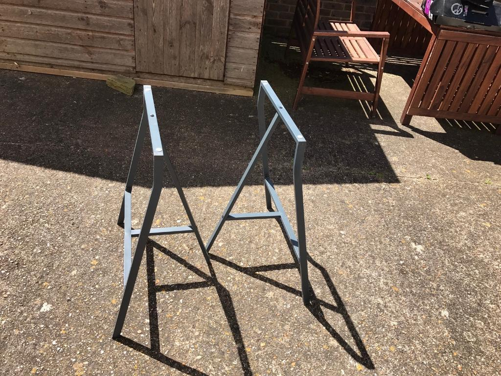 Ikea trestle table desk legs. in worthing west sussex gumtree