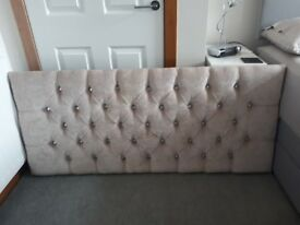Taupe coloured diamonte headboard