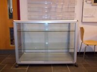 Glass shop cabinet