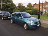 RENAULT CLIO 1.2 / 76K MILES / FULL SERVICE HISTORY/CAMBELT & WATER PUMP CHANGED AT 66257 MILES/£895