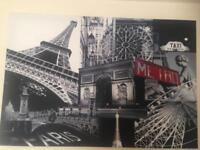 Very large Paris canvas