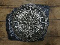 Vintage Large South American Mayan Calendar heavy cast plaster metal effect