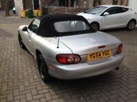 Mazda MX-5 1.6 on 54 plate with low miles.