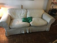 Sofa bed (good bed, large sofa) with one tear under the covers