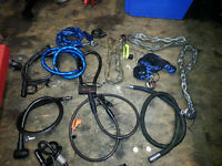 Job Lot Security chains, cables, locks motorcycle, trailer, caravan, gate etc