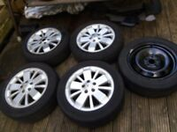 Renault Laguna 2006 Alloy Wheels with 205/55/16 Tyres