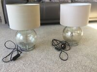 Champagne coloured table lamps from Next
