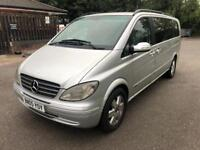 2005 05reg Mercedes Viano 2.2 Cdi Automatic 7 Seater Silver Full Leather