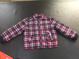 Ben Sherman checked coat age 3-4