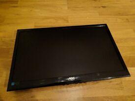 """AOC E2250SWDAK 21.5"""" VGA/DVI/SPK Widescreen LED Monitor 1920 x 1080 - Very good condition!"""