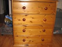 SOLID PINE CHEST OF DRAWERS Bedroom furniture by Creations vgc