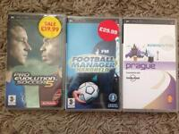 PsP Games with cases