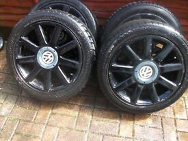 RS4 multi fitment 5x112 by 5x100 alloys wheels for sale