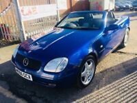 MERCEDES SLK 230k 2.3 ROADSTER AUTOMATIC 2 DOORS CONVERTIBLE PETROL BLUE LEATHER