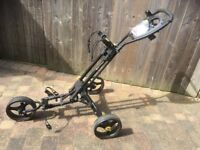 iCART ONE Compact push golf trolley - black