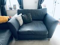 DFS 4seater sofa and cuddle chair, excellent condition grey